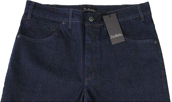 Calça Jeans Masculina Pierre Cardin Reta - Cintura Alta - Ref. 467P043 Azul - Algodão / Poliester / Elastano - Jeans Macio