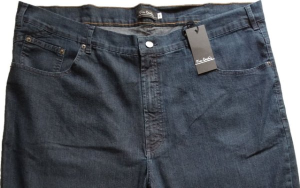 Calça Jeans Masculina Pierre Cardin Reta (Cintura Alta) - Ref. 487P110 - PLUS  SiZE - Algodão / Poliester / Elastano (Jeans Fino e Macio)
