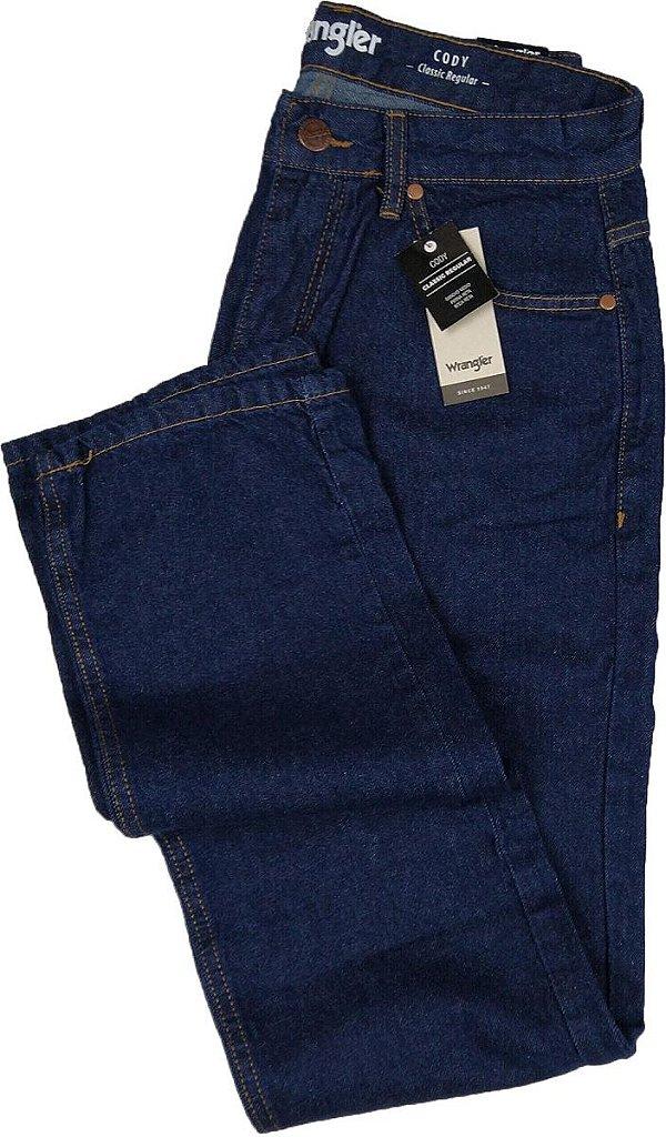 Calça Jeans Masculina Wrangler Reta Tradicional - Ref. WM1002 - Linha Cody -100% algodão