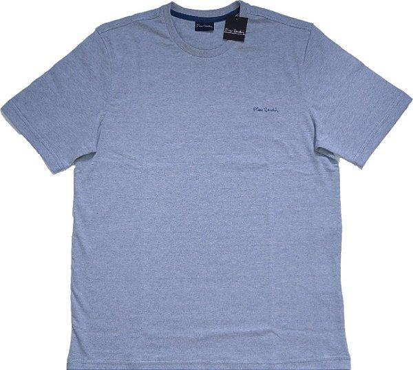 Camiseta Gola Careca Pierre Cardin  - 88% Algodão / 12% Poliester - Ref. 43195 Azul