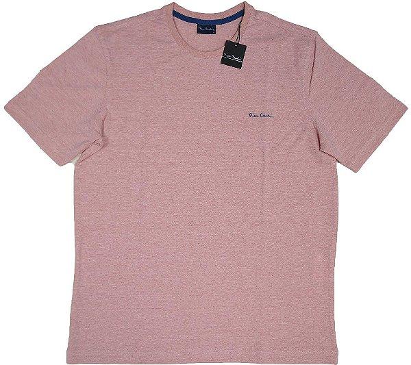 Camiseta Gola Careca Pierre Cardin  - 88% Algodão / 12% Poliester - Ref. 43195 VLH