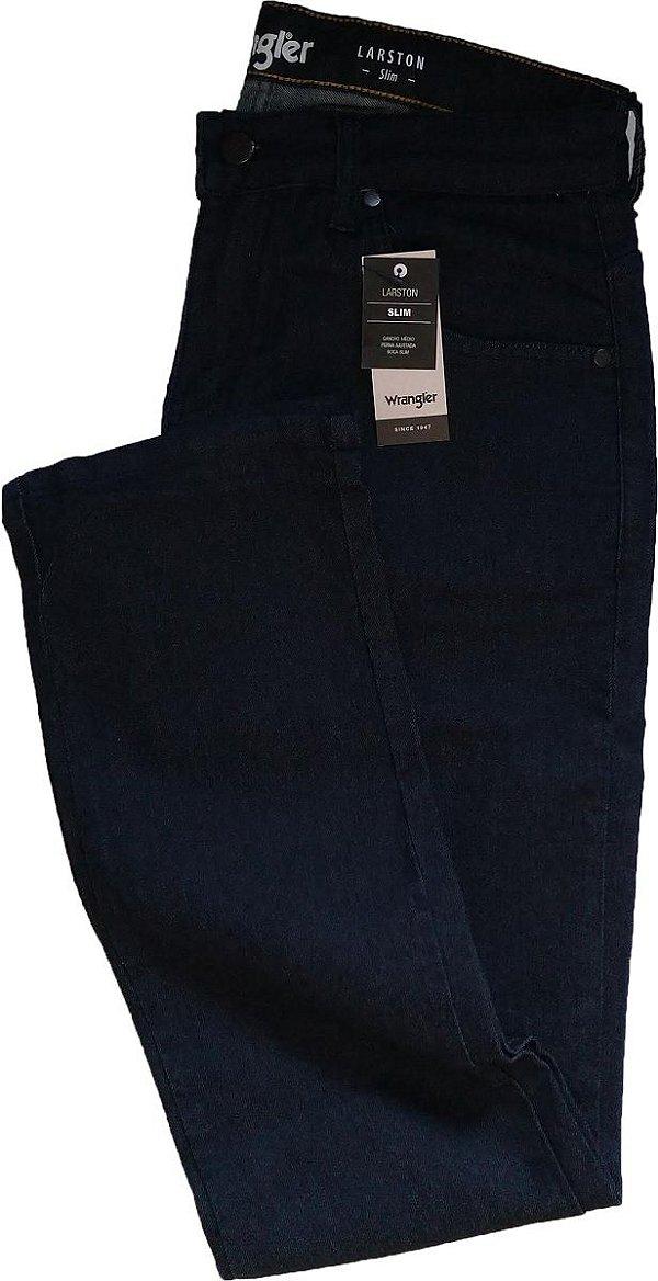 Calça Jeans Masculina Wrangler Slim Fit - Ref. WM3503 - Azulão - Linha Larston - Algodão / Poliester / Elastano