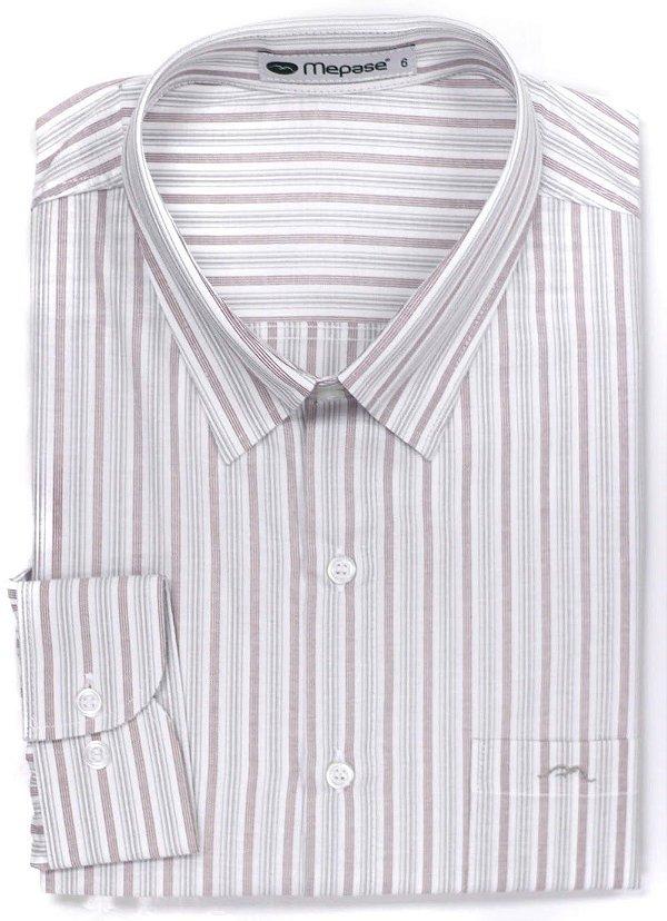 Camisa Manga Longa Passa Fácil Masculina Mepase - Algodão / Poliester - REF 5243CA