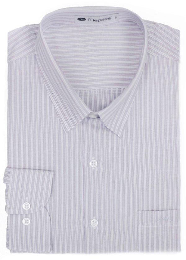 Camisa Manga Longa Passa Fácil Masculina Mepase - Algodão / Poliester - REF 5243CB