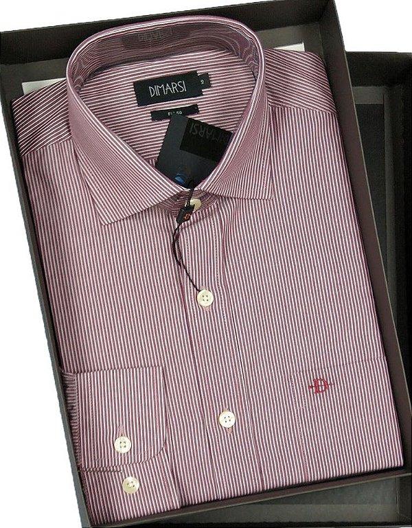 Camisa Dimarsi Com Bolso - Manga Longa - Fio 60 - 100% Algodão - Ref. 8666VI