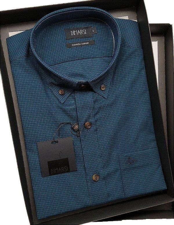 Camisa Dimarsi Com Bolso - Manga Curta - Algodão EgÍpcio - Ref. 8645 Verde