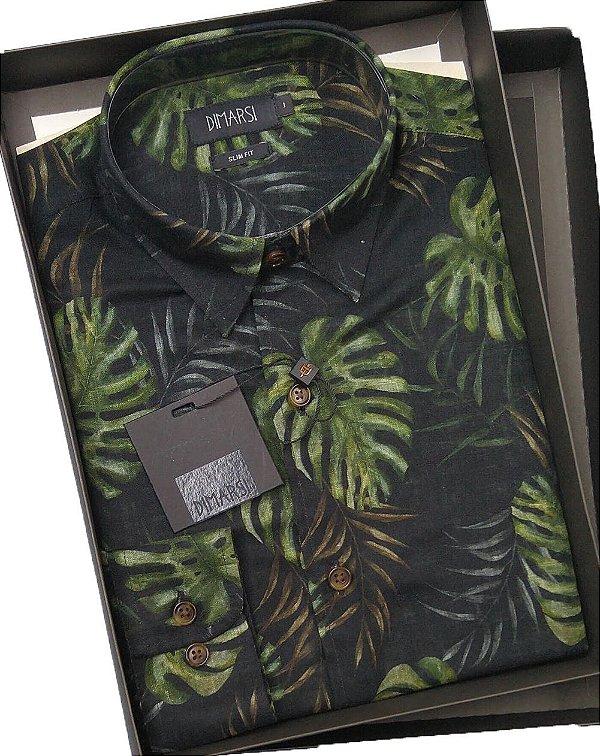 Camisa Dimarsi Slim Fit - Manga Longa - 100% Algodão - Ref. 8716 Floral