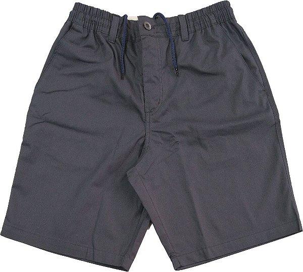 Bermuda de Elástico Stargriff - Com Zipper e Botão - 80% Algodão / 20% Poliester - Ref. 578 Cinza