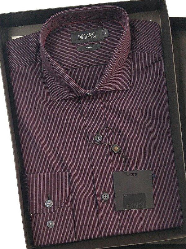 Camisa Dimarsi Com Bolso - Manga Longa  - Fio 80 - 100% Algodão - Ref. 8120VI