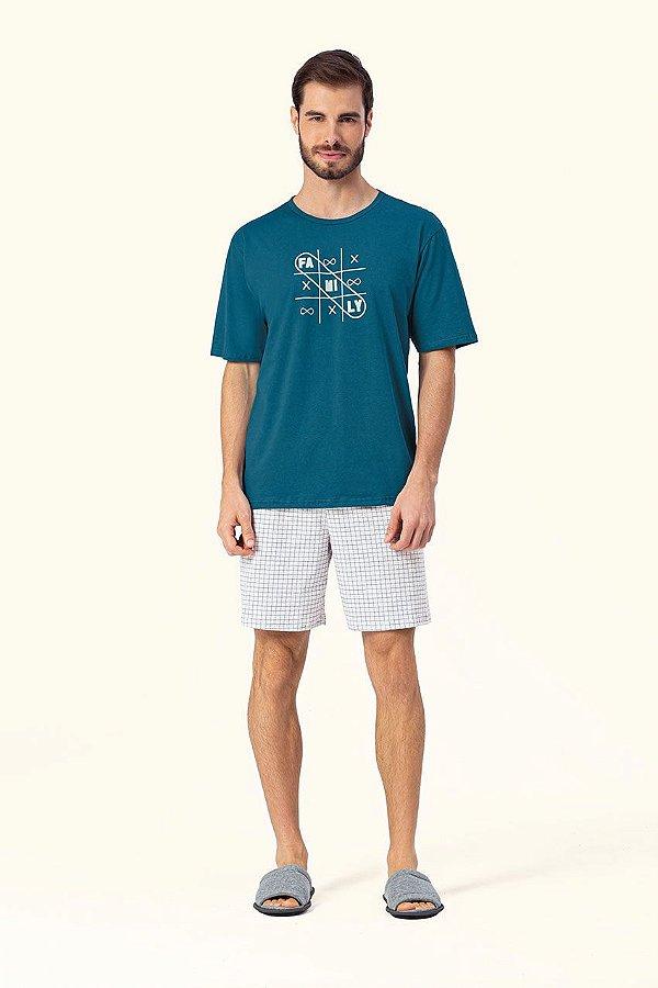 Pijama Curto Masculino Lua Encantada - Ref. 12270023