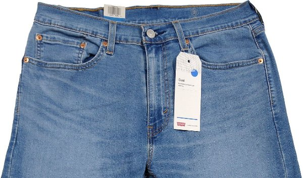 Calça Jeans Levis Masculina Corte Tradicional - Ref. 505-2064 Regular - Algodão / Poliester / Elastano