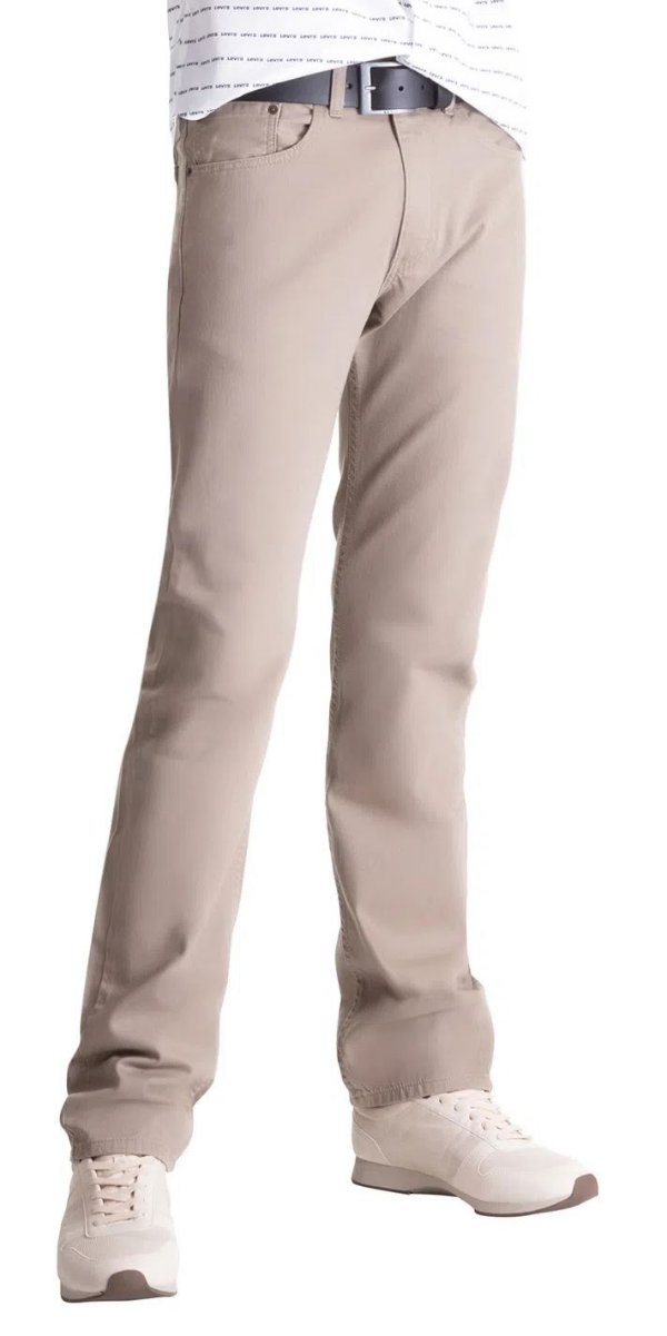 Calça Jeans Levis Masculina Corte Tradicional Regular - Ref. 505-0718 Caqui - 100% Algodão