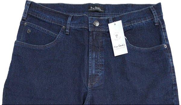 Calça Jeans Masculina Pierre Cardin Reta (Cintura Média) - Ref. 457P266 - Algodão / Poliester / Elastano - Jeans Macio