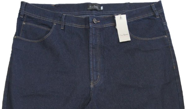 Calça Jeans Masculina Pierre Cardin Reta (Cintura Alta) - Ref. 487P031 - PLUS  SiZE - Algodão / Poliester / Elastano (Jeans Fino e Macio)
