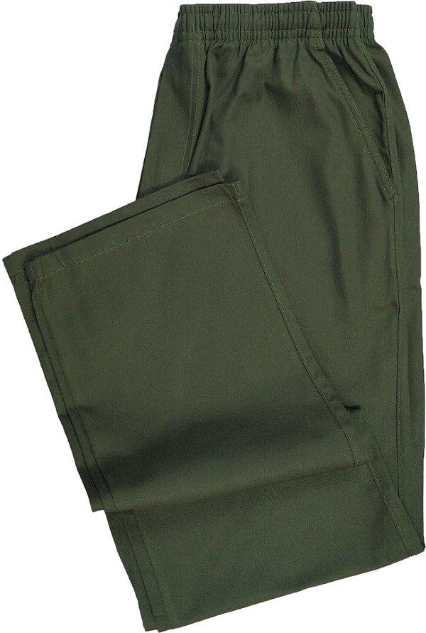Calça de Elástico Masculina Com Zipper - Stargriff - 100% Algodão - Ref. 421 Verde