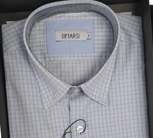 Camisa Dimarsi - Com Bolso - Manga Curta - 100% Algodão - Ref. 8265 Xadrez Branca