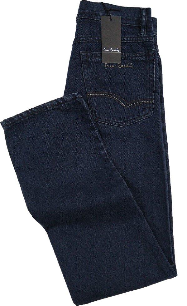 Calça Jeans Masculina Pierre Cardin Reta Tradicional Cintura Alta - Ref. 464P851 - 100% Algodão