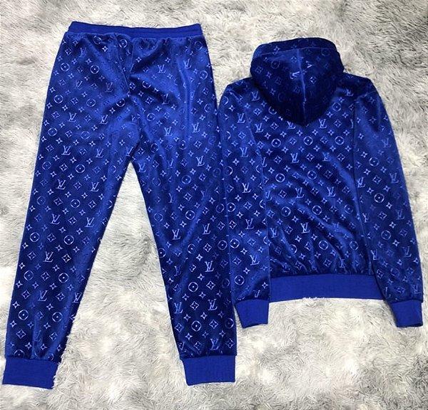 CONJUNTO LV LUXO COM CAPUZ - Azul
