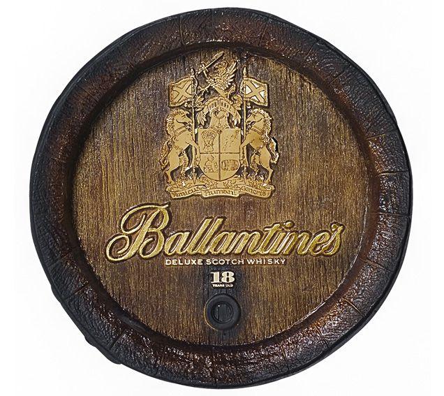 Barril de parede grande em Fibra KG - Decoração - Decoração - Ballantines Whisky