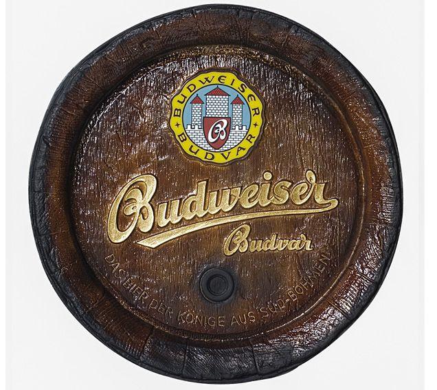 Barril de parede grande em Fibra KG - Decoração - Budweiser Cerveja