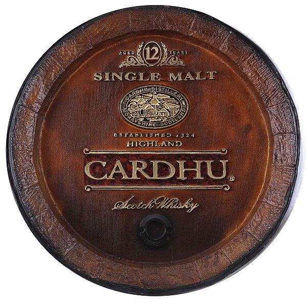 Barril de parede grande em Fibra KG - Decoração - Cardhu Whisky