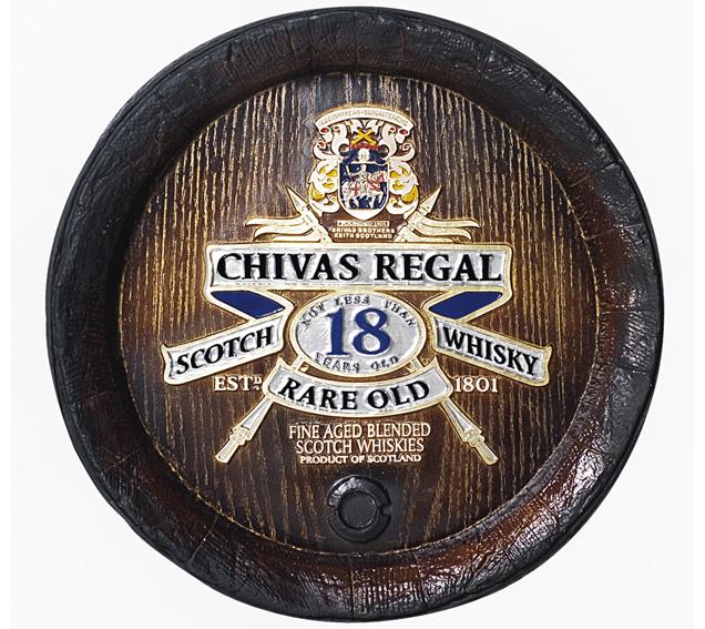 Barril de parede grande em Fibra KG - Decoração - Chivas 18 Whisky