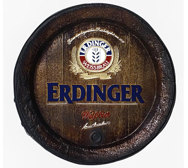 Barril de parede grande em Fibra KG - Decoração - Erdinger Cerveja