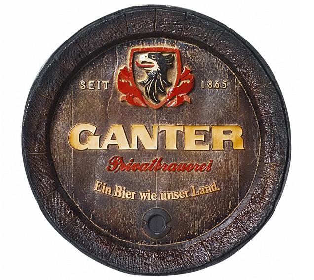 Barril de parede grande em Fibra KG - Decoração - Ganter Cerveja