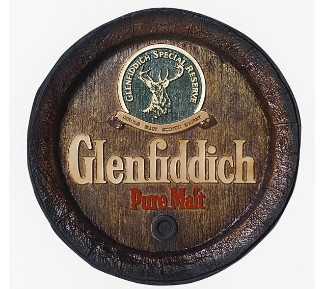 Barril de parede grande em Fibra KG - Decoração - Glenfiddich Whisky