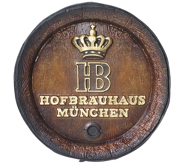 Barril de parede grande em Fibra KG - Decoração - HB Cerveja
