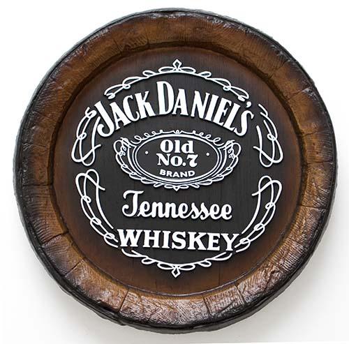 Barril de parede grande em Fibra KG - Decoração - Jack Danniels Whisky