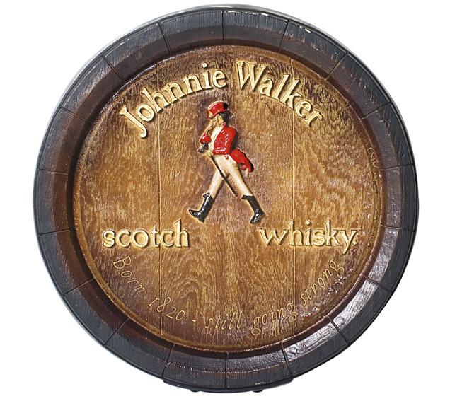 Barril de parede grande em Fibra KG - Decoração - Johnnie Walker Whisky