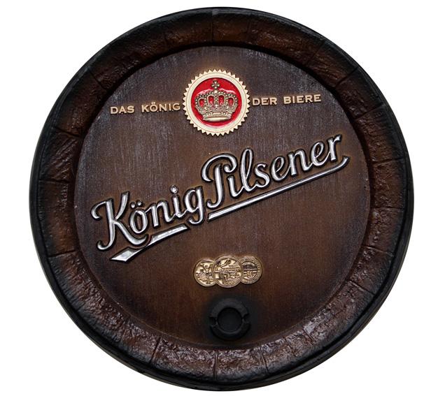Barril de parede grande em Fibra KG - Decoração - König Pilsener Cerveja