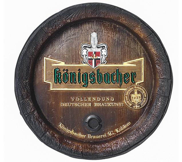 Barril de parede grande em Fibra KG - Decoração - Königsbacher Cerveja
