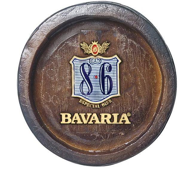 Barril Mini de parede em resina KG - Decoração – Bavaria Cerveja