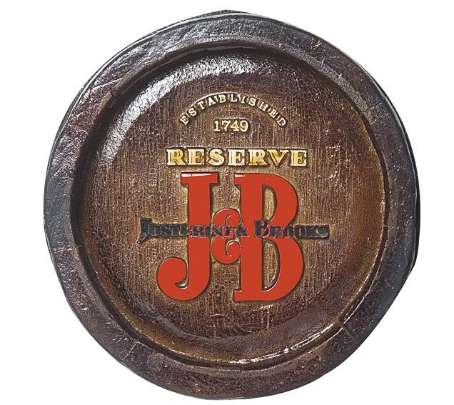 Barril Mini de parede em resina KG - Decoração – J&B Whisky