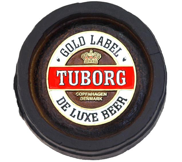 Barril Mini de parede em resina KG - Decoração – Tuborg Cerveja