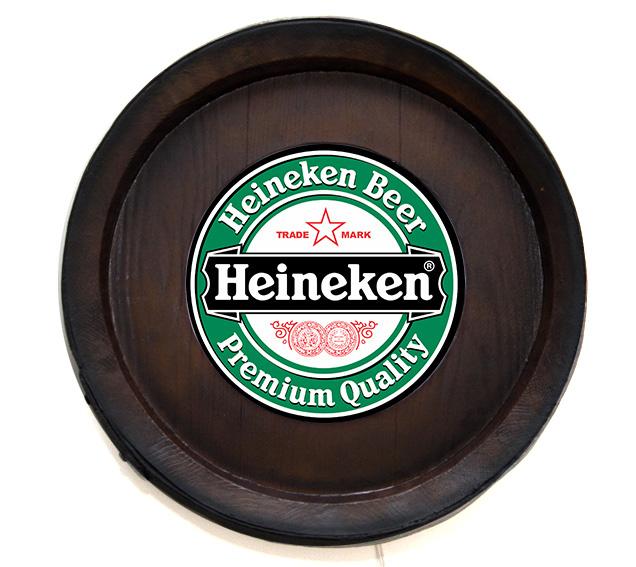 Barril Backlight Luminoso KG de parede - Heineken Cerveja - Bivolt