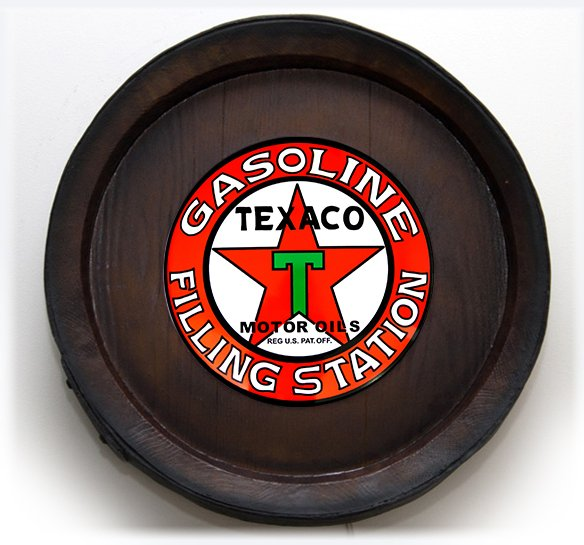 Barril Backlight Luminoso KG de parede - Texaco Gasoline - Bivolt