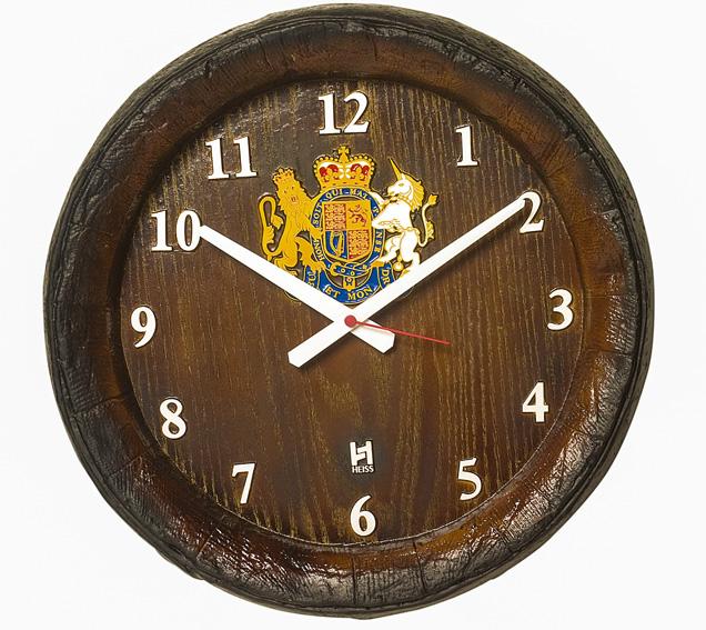 Relógio KG Barril de parede grande em Fibra - Horário Números
