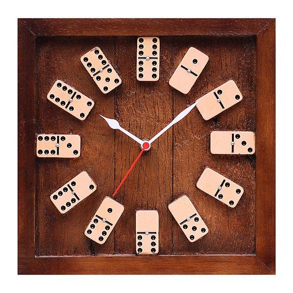 Relógio quadrado KG de parede em Fibra - Dominó