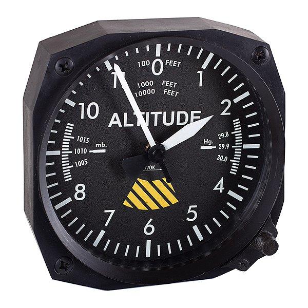 Relógio decorativo KG de parede em fibra - Simulacro Altimetro
