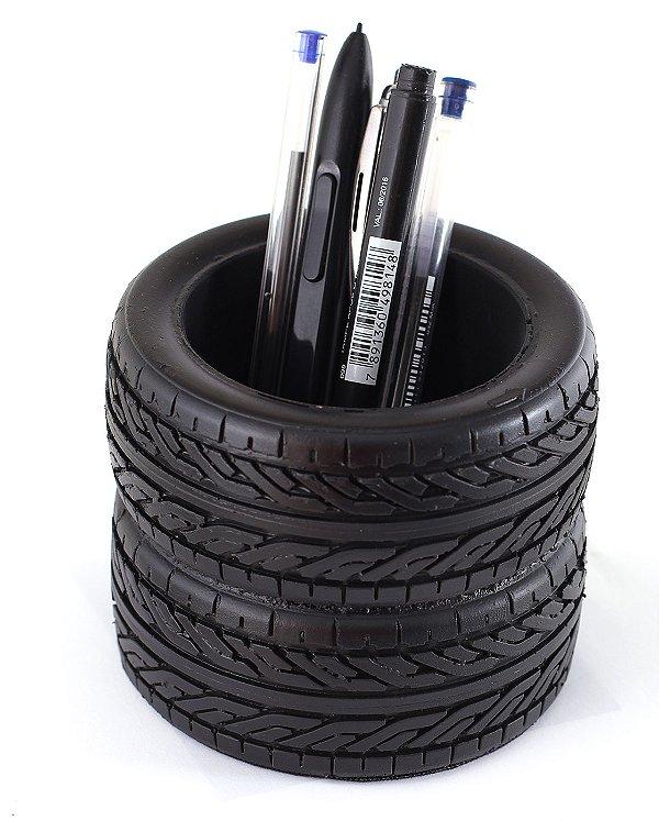 Porta-lápis Porta-trecos KG Pneus decorativo em resina - Pneu Decorativo