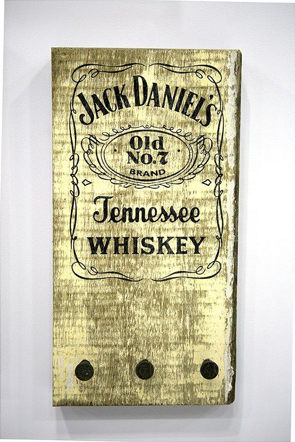 Porta Chaves Decorativo Jack Daniels Madeira