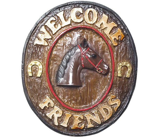Placa KG Welcome de parede em resina - Welcome Friends Country (21 x 25 cm)