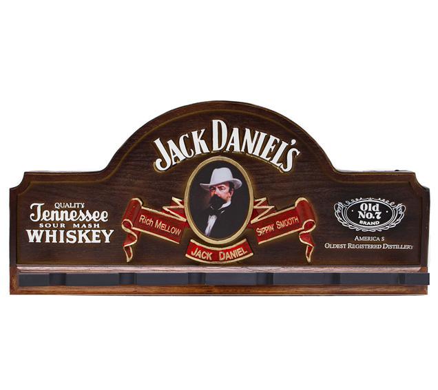 Placa KG Jack decorativa em fibra - Jack Danniels Suporte Copos / Porta-Espetos