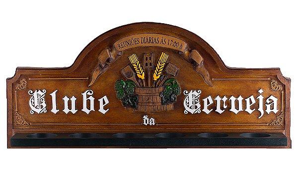 Placa KG Clube decorativa em fibra - Clube da Cerveja - Suporte Copos