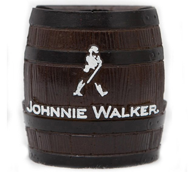 Barrica KG decorativa em resina Porta-Guardanapo Johnnie Walker