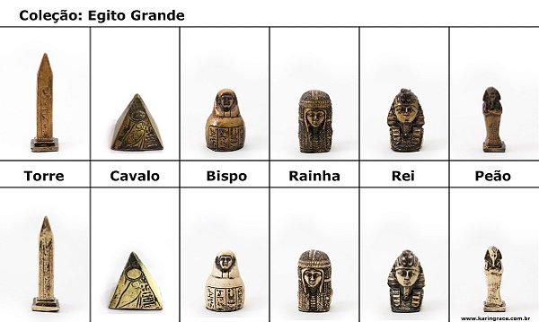 Peças de Xadrez KG de Resina - Coleção Egito (32 peças)