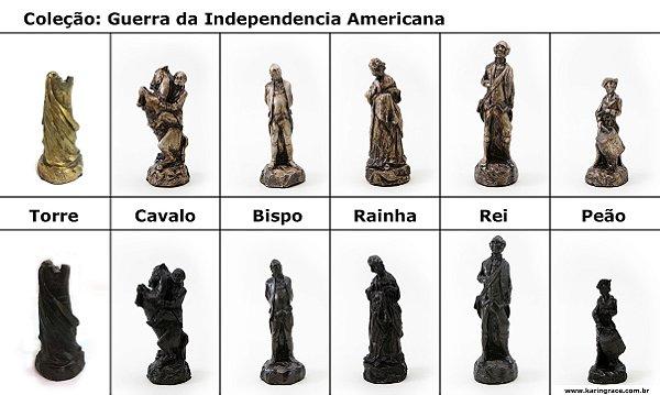 Peças de Xadrez KG de Resina - Coleção guerra da Independencia Americana(32 peças)